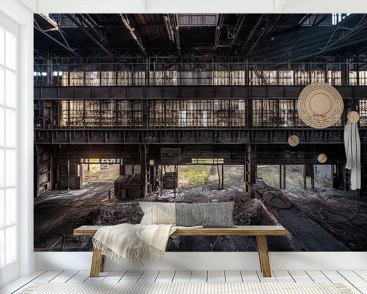 Beispiel fototapete: Eine verlassene Fabrikhalle in der Nähe eines Stahlwerks von Steven Dijkshoorn