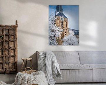 Winters Bovenkerk Kampen von Gerrit Veldman