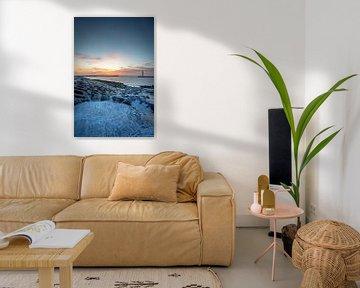 Zonsondergang aan de Oostelijke Strekdam in Oostende van Pieterpb