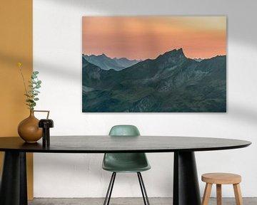 Allgäu berg silhouet van Leo Schindzielorz