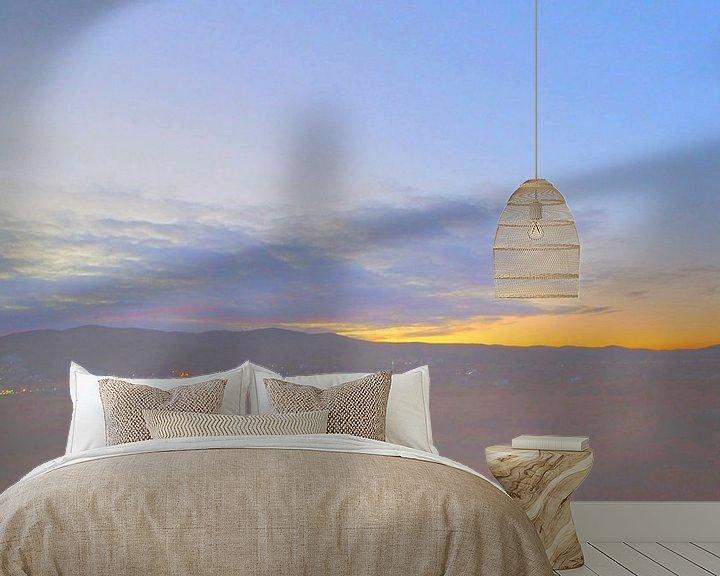 Sfeerimpressie behang: Sonnenuntergang 3 van Peter Norden