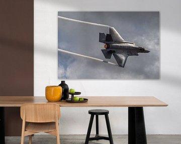 Indrukwekkend! Een high speed pass van de Lockheed Martin-F-35 Lightning II tijdens de Wings over Ho van Jaap van den Berg