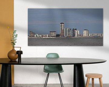 skyline Vlissingen - dag von Yvonne Blokland