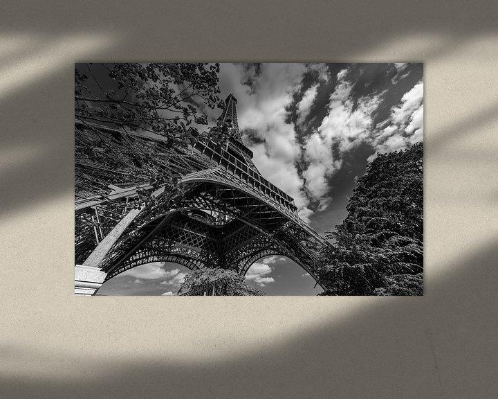 Beispiel: Eiffelturm in Schwarz und Weiß von Bert-Jan de Wagenaar