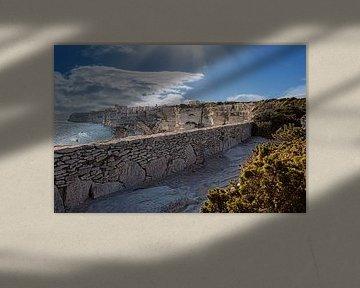 rotsachtige weg naar Bonifacio van Thomas Heitz