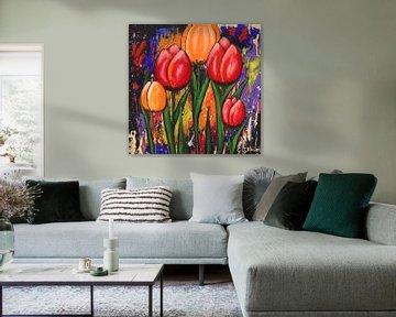Fröhliche Tulpen von Gulserin Gokcan