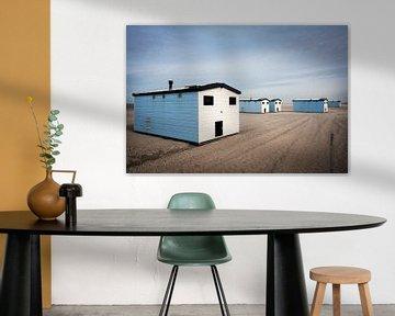 Maisons de plage à Hoek van Holland sur Peter de Kievith Fotografie