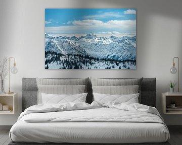 Winteruitzicht op de Hochvogel van Leo Schindzielorz