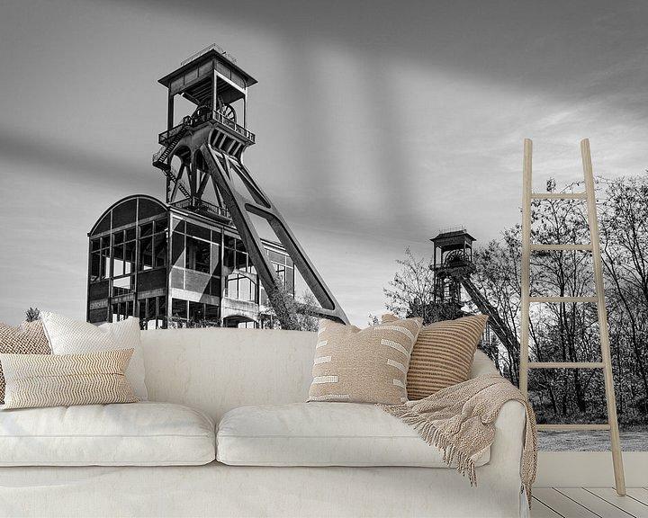 Beispiel fototapete: Elevatorschacht Bergwerk Eisden von Rob Boon