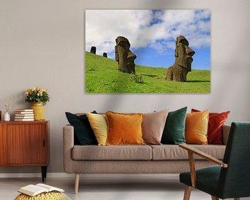 Moai's op Paaseiland van Antwan Janssen