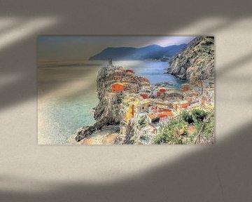 Vernazza - Cinque Terre - Italie - Peinture sur Schildersatelier van der Ven