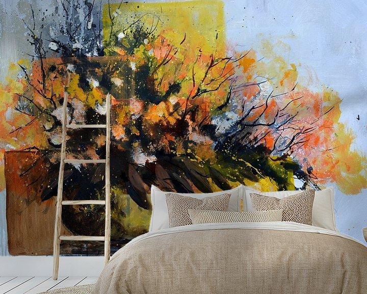 Sfeerimpressie behang: Ikebana van pol ledent