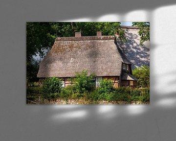 Ferme historique, Wilsede, Lüneburg Heath, Basse-Saxe, Allemagne sur Torsten Krüger