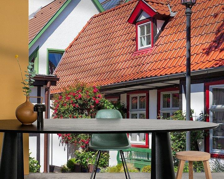 Beispiel fototapete: Rostock-Warnemuende : historisches Haus in der  Altstadt von Torsten Krüger
