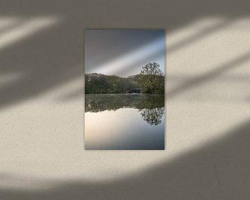 Zonsopkomst op een mooie lente ochtend in de Cranenweyer van John van de Gazelle