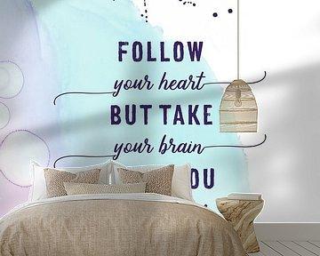 FOLLOW YOUR HEART | floating colors van Melanie Viola
