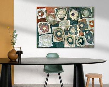 dessin abstrait rond et carré van Rudy en Gisela Schlechter