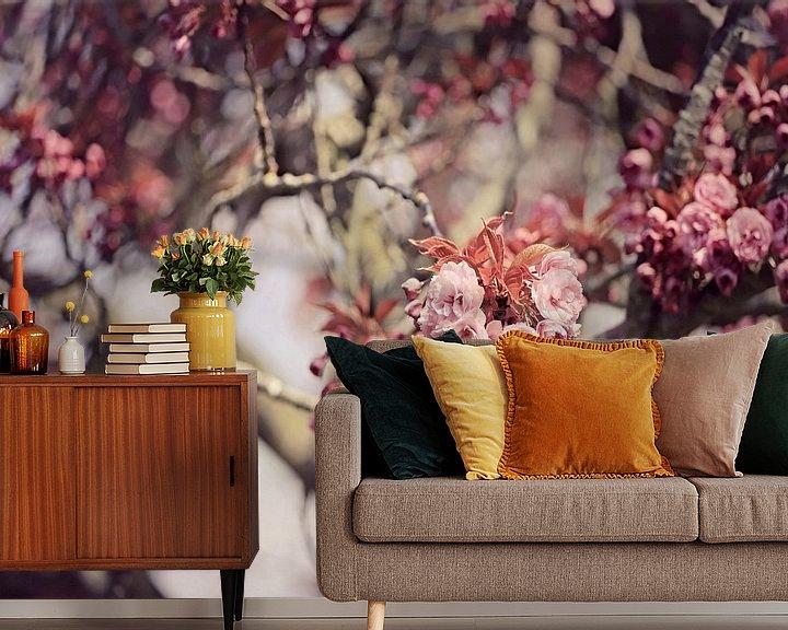 Beispiel fototapete: japanische Kirsche in Blüte! von Els Fonteine