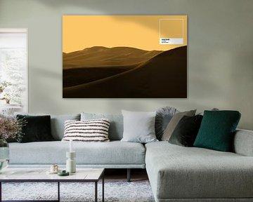 PMS Sunset Gold - Wüsten-Sonnenuntergang von Joost van Lieshout