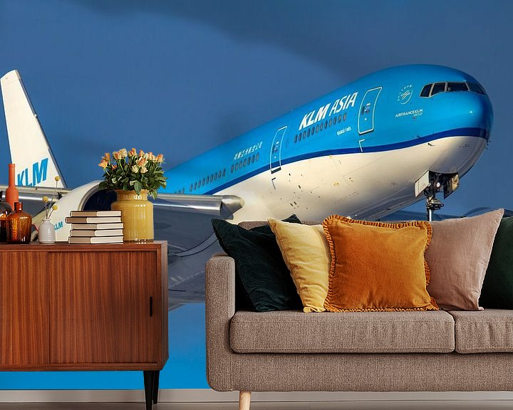 Sfeerimpressie behang: KLM Boeing 777 van Dennis Dieleman