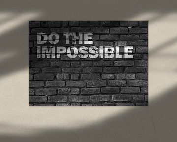 Motivierender Spruch Graffiti in schwarz weiß von KalliDesignShop