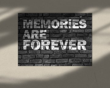 Herinneringen zijn voor altijd! Graffiti zwart-wit van KalliDesignShop