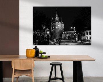 Sassenpoort Zwolle bei Nacht. von Janny Beimers