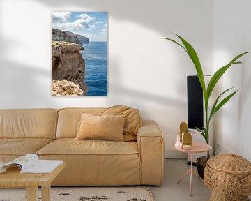 Kliffen van de oostkust van Malta van Manon Verijdt