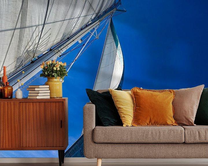 Sfeerimpressie behang: Sailing 1 van Jan Enthoven Fotografie