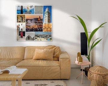 collage marokko tanger casablanca oude stad rabat marrakech brood van Dieter Walther