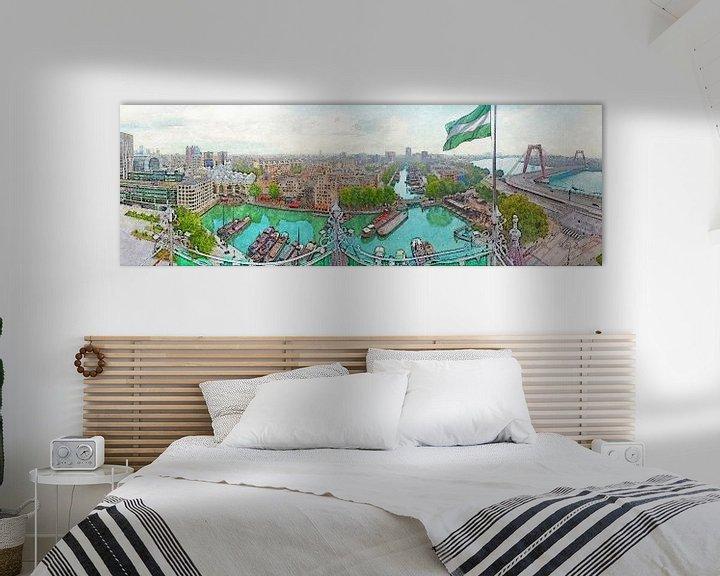 Sfeerimpressie: Panorama Oude Haven Rotterdam van Frans Blok
