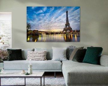 Wintermorgen am Eiffelturm von Michael Abid