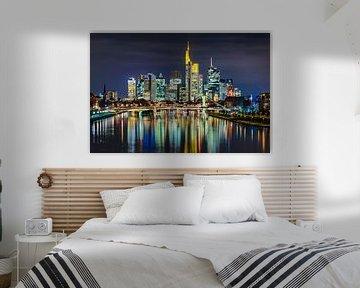 Overnachting in Frankfurt van Michael Abid