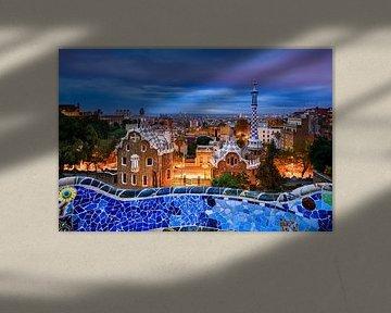 Park Guell in Barcelona van Michael Abid