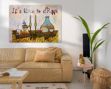 Stillleben Haus Objekt und Getränk , von Ariadna de Raadt-Goldberg
