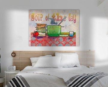 Stillleben Küchenobjekte mit Suppentopf von Ariadna de Raadt-Goldberg