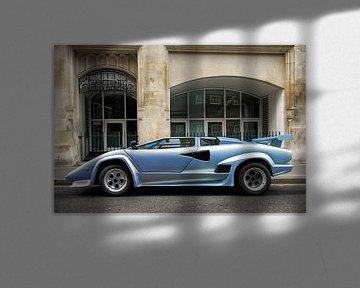 Lamborghini Countach Sportwagen in den Straßen von London von Sjoerd van der Wal