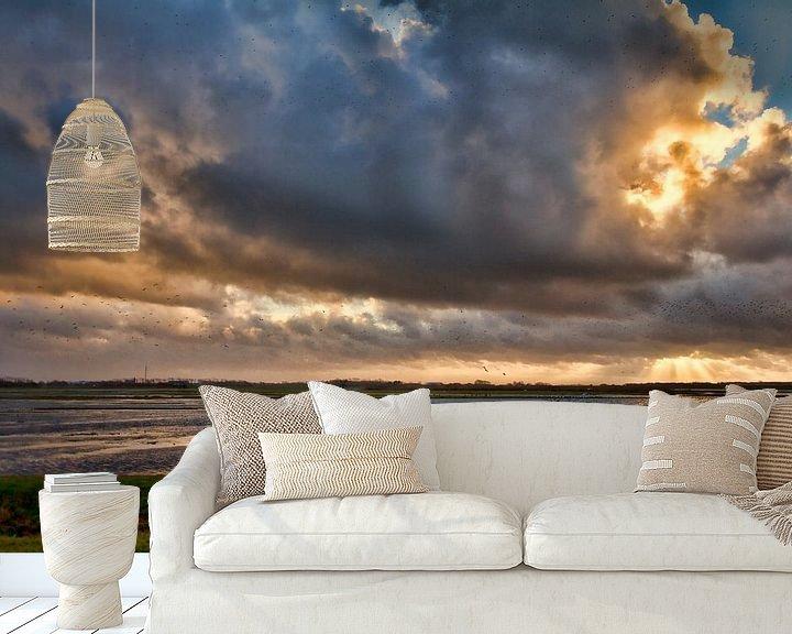Sfeerimpressie behang: Donkere woken van Van Renselaar Fotografie