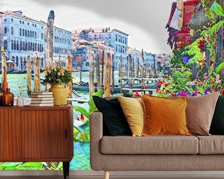 Impression: Venise en fleurs sur Loretta's Art