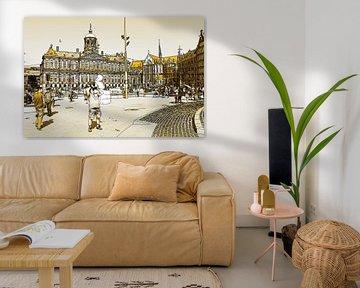 Golden Dam Draw Amsterdam Niederlande von Hendrik-Jan Kornelis