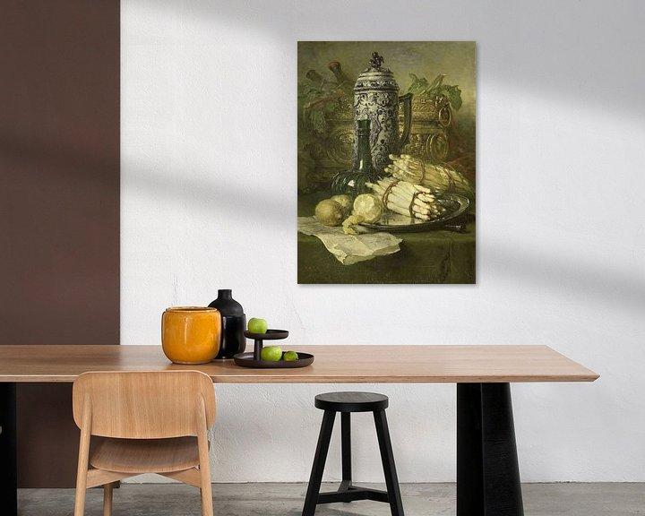 Beispiel: Stilleben mit Krug aus Steingut, Maria Vos