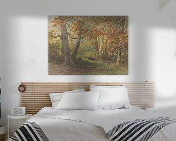 Blick auf einen Wald bei Oosterbeek, Maria Vos