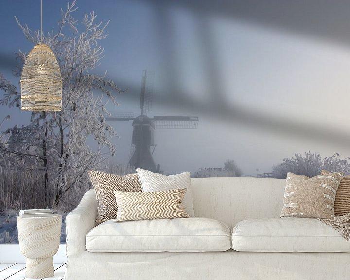 Sfeerimpressie behang: winter in holland van Ilya Korzelius