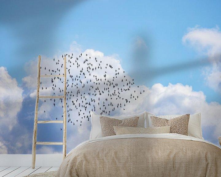 Impression: Nuage de godwits à queue barrée au-dessus de la mer des Wadden Vlieland. sur Gerard Koster Joenje (Vlieland, Amsterdam & Lelystad in beeld)