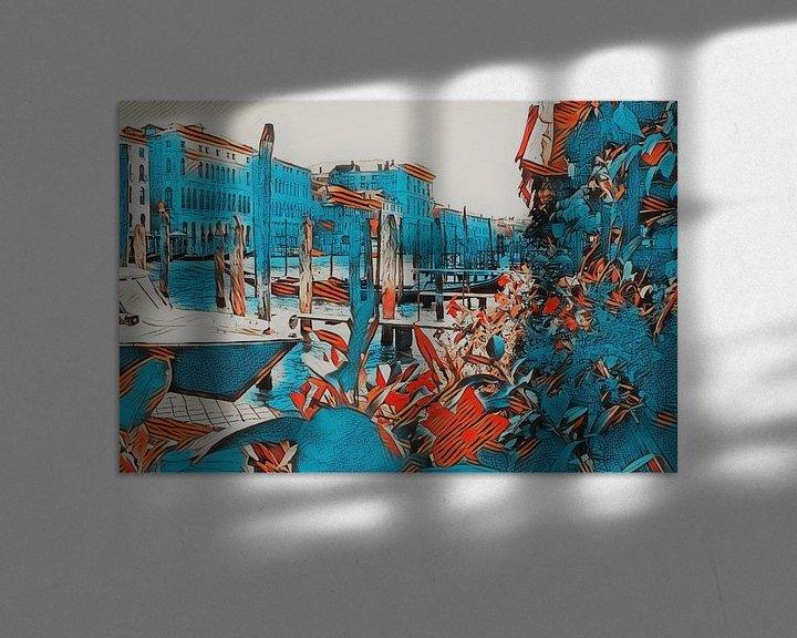 Impression: Venise en bleu et en fleurs sur Loretta's Art