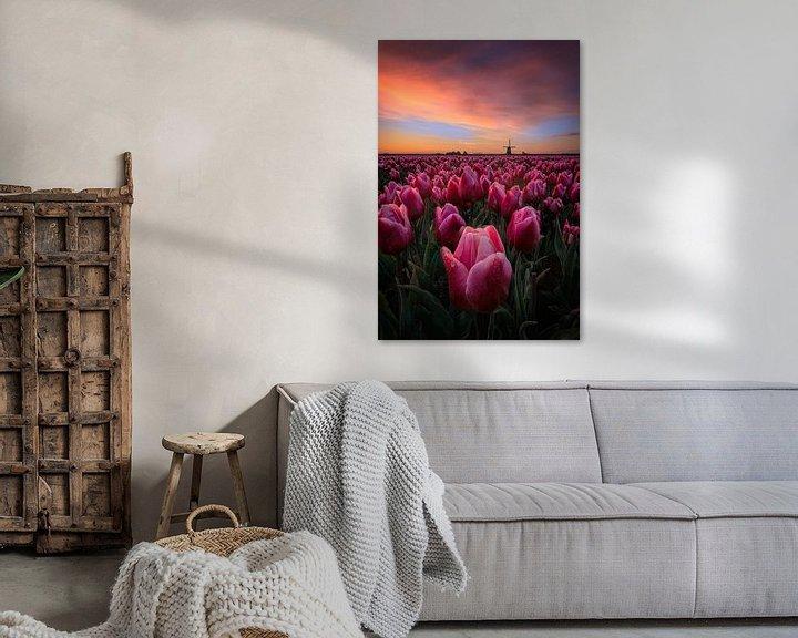 Sfeerimpressie: Springtime sunrise in the Netherlands van Costas Ganasos