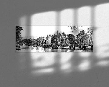 Kloveniersburgwal Zeichnung Amsterdam von Hendrik-Jan Kornelis