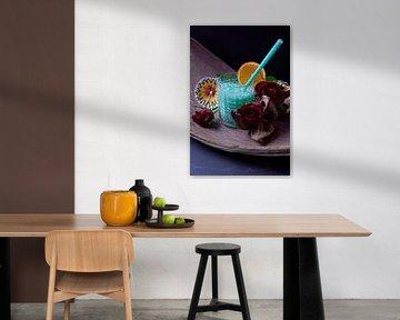 Rum trifft Banane Curacao Kokosnuss. Leckere und fruchtige Cocktails im Glas serviert von Babetts Bildergalerie