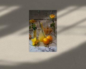 Limettenvariation mit Bananenlikör im Glas. leckere und fruchtige Cocktails im Glas serviert von Babetts Bildergalerie