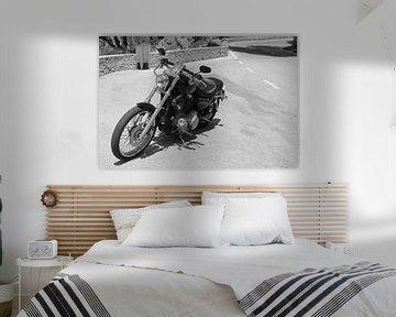 Harley Davidson zwart wit